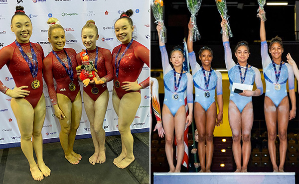 USA wins senior and junior team titles, 10 individual titles at 2020 Gymnix International